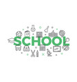 school concept with icons and signs vector image vector image