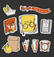 school stickers vector image