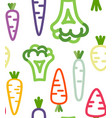 seamless pattern with funny vegetables vector image vector image