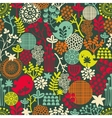 Seamless texture with birds and flowers vector image vector image