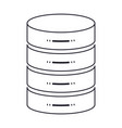 server hosting storage icon in monochrome vector image vector image