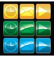 set buttons vector image vector image