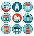set with real estate logos and emblems vector image