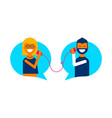 social media online chat conversation concept vector image vector image