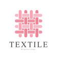 textile original logo design creative sign for vector image vector image