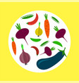 vegetable fresh pattern isolated vector image vector image