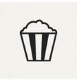 Vintage Popcorn Icon vector image vector image