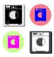 washing machine flat icon vector image