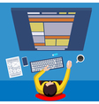 Web developer vector image