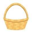 wicker empty basket isolated flat vector image vector image