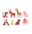 wild baby animals set vector image