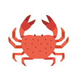 Red Crab Icon vector image