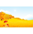 autumn rural landscape with vector image