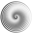 abstract geometric spiral ripples with circular vector image