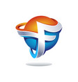 abstract letter f logo design inspiration vector image vector image