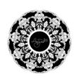 Abstract mandala background with floral ornament vector image