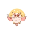 Abstract owl isolated on white vector image vector image