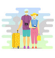 active seniors flat style design vector image