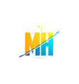 alphabet letter mh m h combination for logo vector image vector image