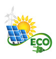 alternative sources of energy eco symbol vector image vector image