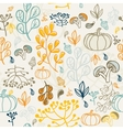 Autumn seamless pattern Elements design of leaf vector image vector image