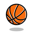 basketball sport ball logo line 3d icon vector image vector image