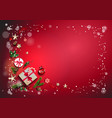 bright red holiday card vector image vector image