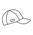 cap thin line icon clothes and accessory sport vector image vector image
