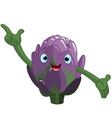 cartoon artichoke vector image vector image