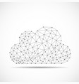 cloud of lines and dots abstract polygonal vector image vector image