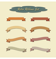 Collection of ribbons in retro vintage style vector image vector image