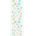 Colorful Doodle Snowflakes Vertical Seamless vector image