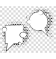 Comic speech bubbles with halftone triangles vector image