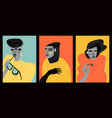 contemporary art collection mages women vector image