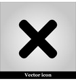 cross sign on grey background vector image vector image