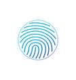 cryptographic signature glyph icon in circle vector image vector image