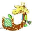 Cute giraffe got flue vector image vector image
