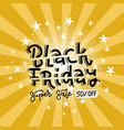 discount banner square shape black friday uper vector image