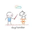 dog handler vector image vector image