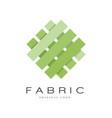 fabric original logo creative sign for company vector image vector image