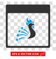 Festive Rooster Calendar Page Eps Icon vector image vector image