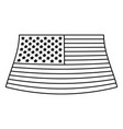 flag united states of america monochrome icon on vector image vector image