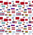 flags world sovereign states on white seamless vector image