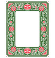 floral border or framewhite space in the centre vector image
