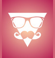 geek face hipster style set bowtie glasses vector image vector image