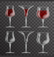 glass drink cup icons template design vector image