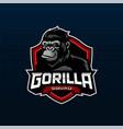 gorilla mascot logo design vector image