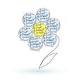 Handwritten words in a shape of flower vector image vector image