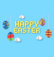 happy easter banner template vector image vector image