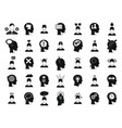 human idea icon set simple style vector image